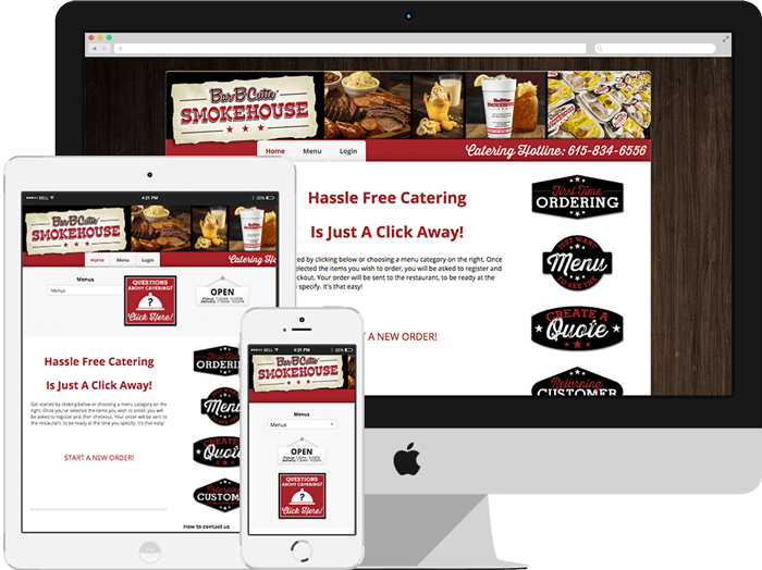 online ordering for catering website