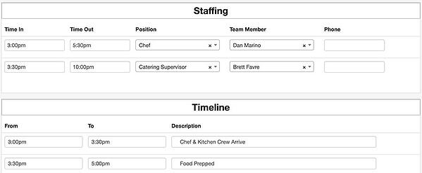 beo timeline employee scheduling