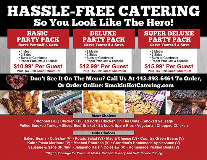 catering menu sample