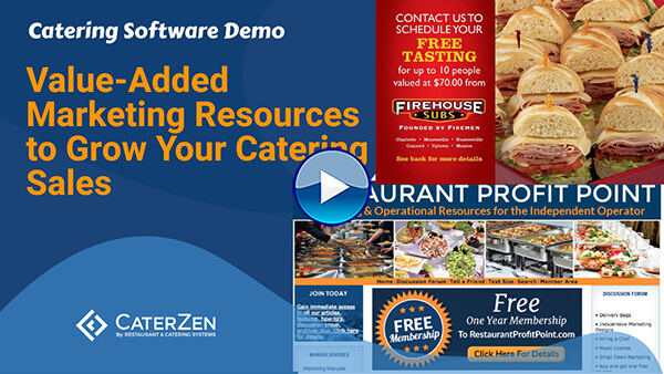 catering sales value added resources video