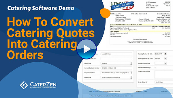 convert catering quotes to order video