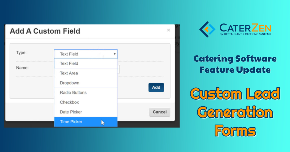 custom lead gen form catering software