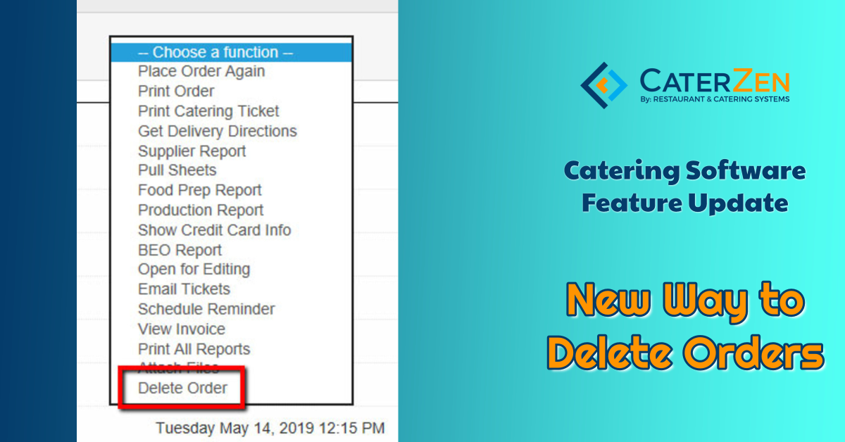 catering software delete order