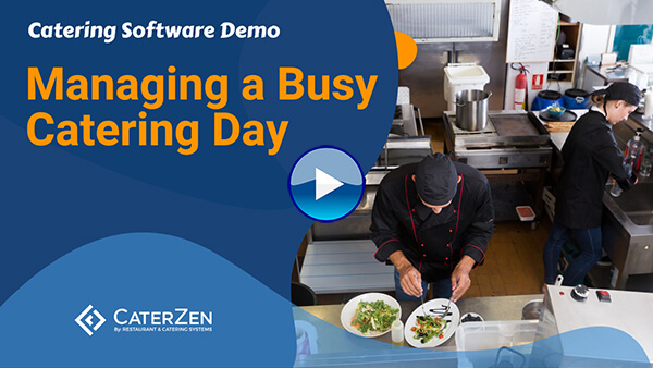 managing busy catering day video