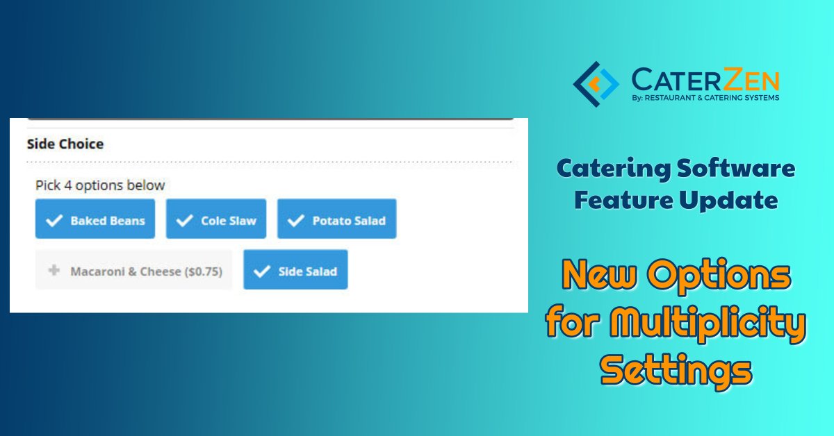catering software multiplicity settings
