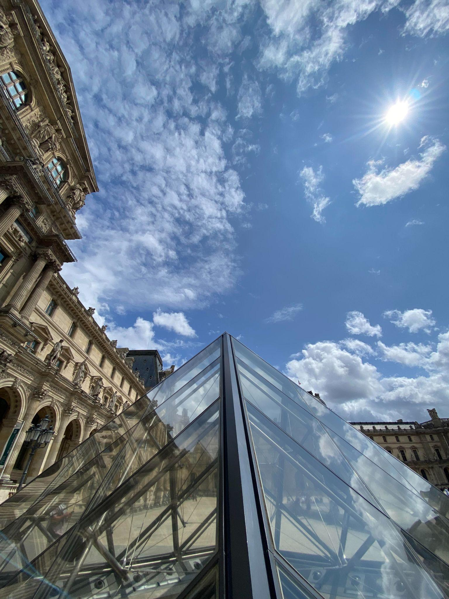 louvre from the heavens