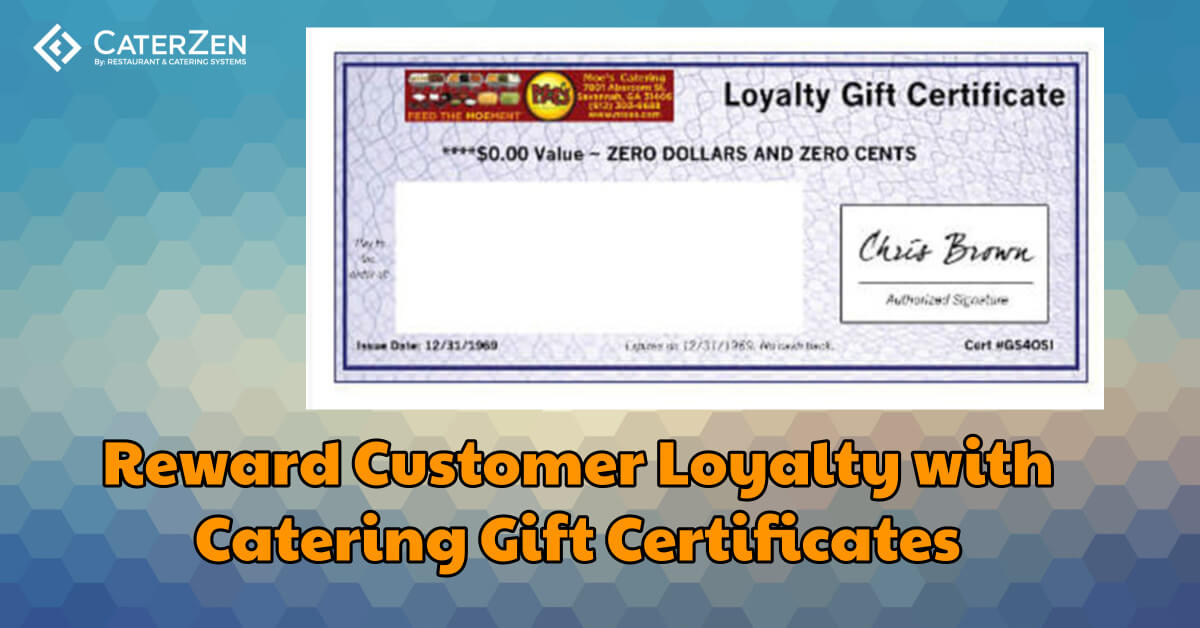 catering gift certificate