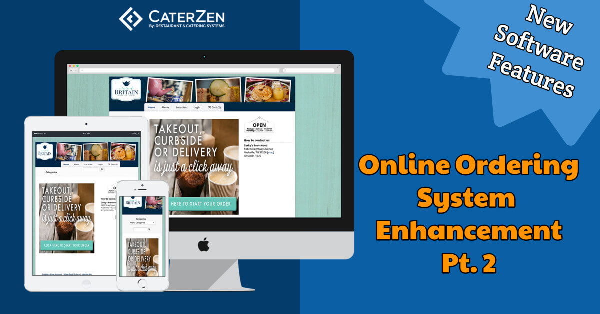 catering online ordering system features