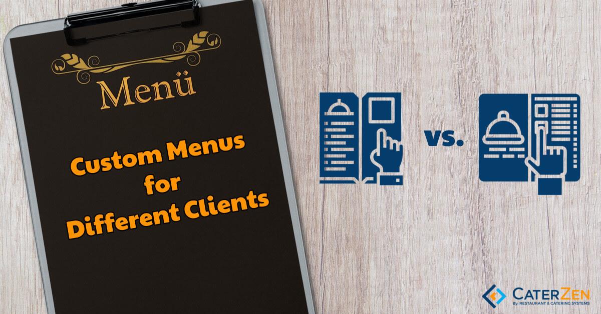 custom catering menus
