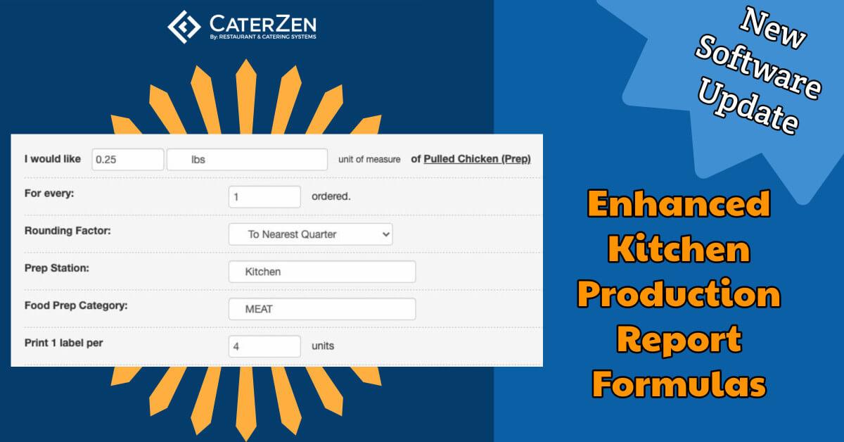 kitchen production report formulas