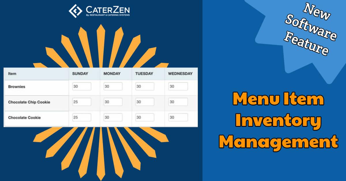 menu item inventory management