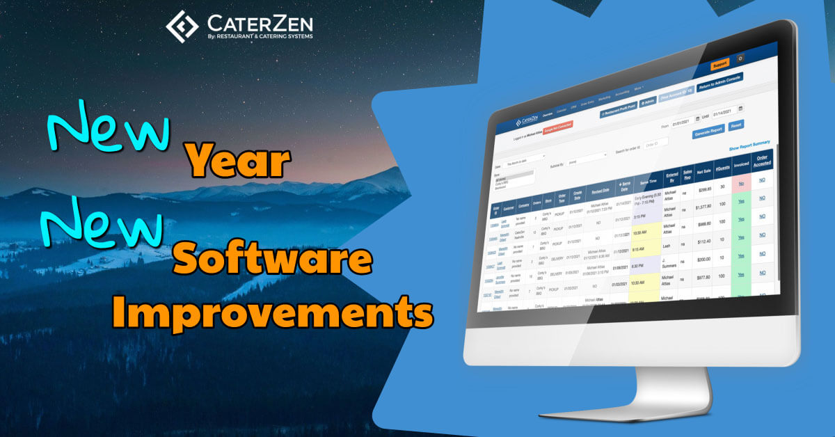 new catering software improvements