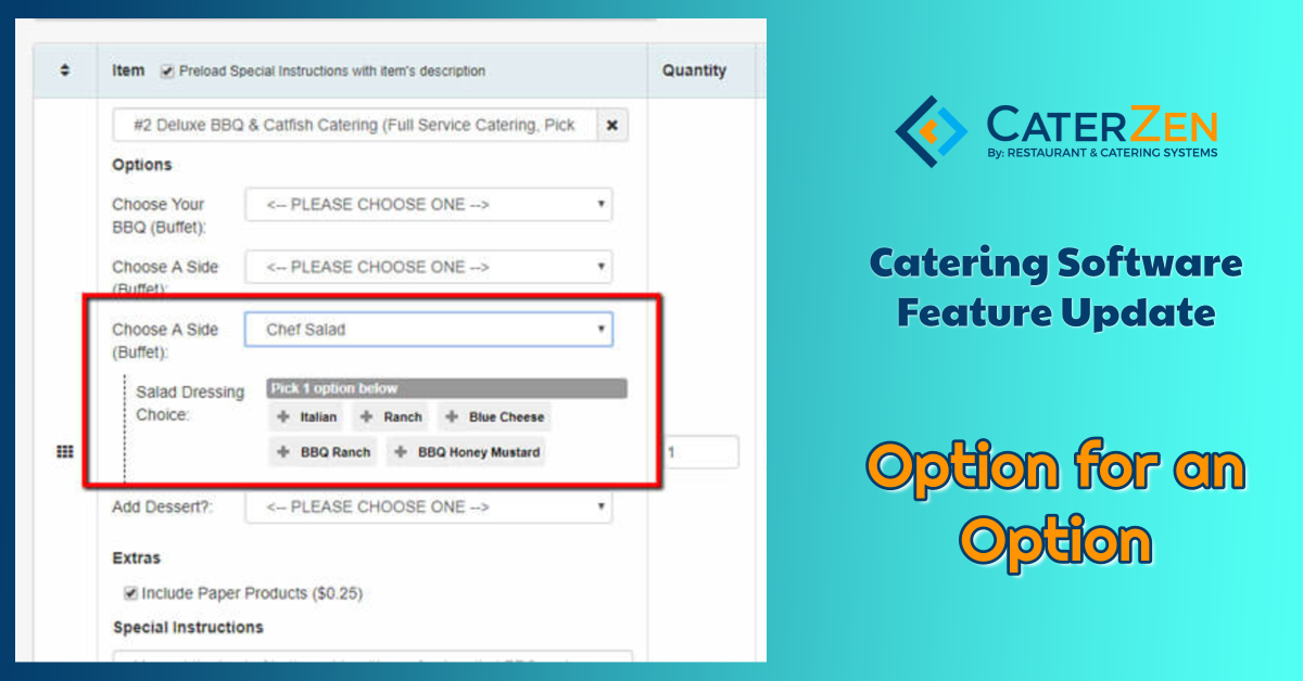 catering software option for option