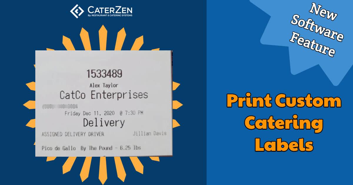 print custom catering labels
